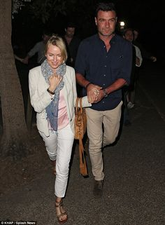 Star-studded dinner: Naomi Watts and Liev Schreiber were spotted leaving Sydney's Catalina restaurant on Thursday