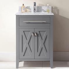 24 Inch Bathroom Vanity, 24 Vanity, Fitted Bathroom, Small Vanity, Wood Vanity, Vanity Cabinet, Vanity Sink, Small Bathroom, Bathrooms