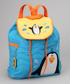 Blue Penguin Quilted Flap Backpack by Stephen Joseph on #zulily today!