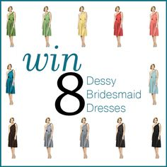 Win 8 Dessy Bridesmaid Dresses!  Visit this page to enter by finding this image again > http://instagram.com/styleunveiled