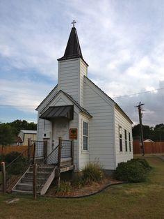 Very tiny church, Hwy 6, Texas
