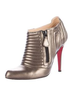 Christian Louboutin Sigourney 100 Metallic Booties sale low cost outlet great deals nsPUSXX