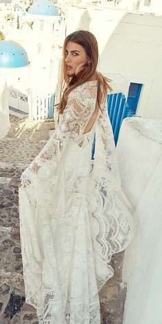 18 Rustic Lace Wedding Dresses For Different Tastes Of Brides ❤️ rustic lace wedding dresses with blowing sleeves lace boho rue de seine ❤️ Full gallery: https://weddingdressesguide.com/rustic-lace-wedding-dresses/ #bride #wedding #bridalgown