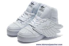 Adidas X Jeremy Scott Wings Chaussures Tous Blanc Vente