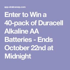 Enter to Win a 40-pack of Duracell Alkaline AA Batteries - Ends October 22nd at Midnight