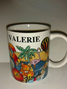 Personalized Coffee Mug for Valerie from Florida Travel Souvenir