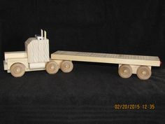Semi Truck & Trailer Custom-hand Made Wooden Cribbage Board