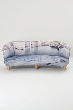 Oh dear God. This sofa is dreamy! #anthrofave #juvenilehalldesign