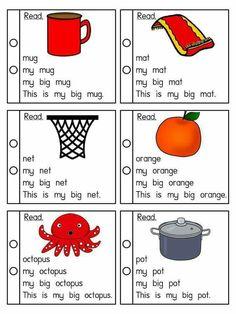 Building Up Sentence Phonics Reading, Reading Comprehension Worksheets, Teaching Phonics, Teaching Kindergarten, Kids Reading, Preschool Learning, Reading Skills, Teaching Reading, Reading Passages