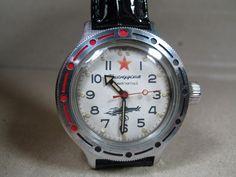 VOSTOK KOMANDIRSKIE WATCH ANTIMAGNETIC SOVIET RUSSIAN USSR MILITARY watch 4 #Vostok #MILITARY Military, Watches, Vintage, Ebay, Wristwatches, Clock, Vintage Comics, Primitive, Military Man