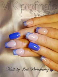 nail art - French tips + accent nail