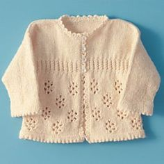 Precious Girl's Knitted Sweater - Free Pattern