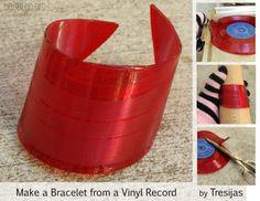 Bracelet from a vinyl record!