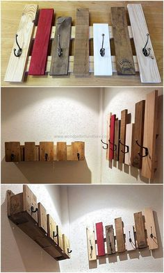 If you are looking for an easy project that you can easily craft by reshaping the useless wooden pallets of your home, then this wooden hanger is smartly designed for your ease. We have simply crafted this hanger with few stacks of useless wooden pallets after coloring few of them with a beautiful shade of paint and with the attachment of black hooks on it.