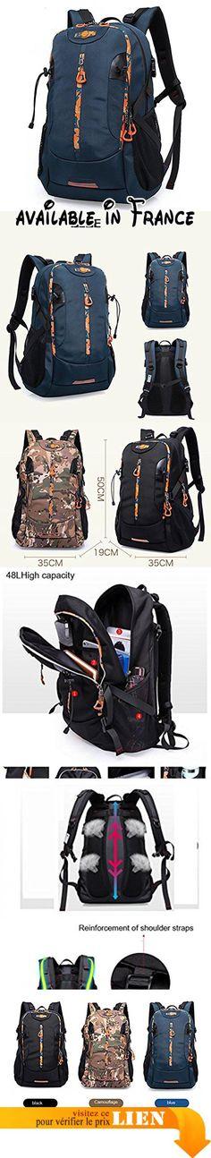 Timberbrother Sacs à dos de randonnée respirant Imperméable Backpack pour Camping, Alpinisme, Escalade, Voyage et Activités de Plein Air (Bleu - 40L)