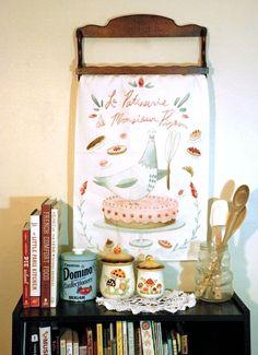 La Patiserrie de Monsieur Pigeon Tea Towel by Lindsay Blevins