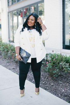 Musings of a Curvy Lady, Plus Size Fashion, Fashion Blogger, Florida Fashion Blogger, Double Breasted Blazer, Balmain Inspired, Plus Size Blazer, Women's Fashion, Winter Fashion, Fall Fashion, FullBeauty, Jessica London, Ulla Popken, ShoeDazzle, French Connection, Style Hunter, #YOUGOTITRIGHT, #REALOUTFITGRAM, #OWNYOURCURVES, #OYC, #MCBeautyRoadShow
