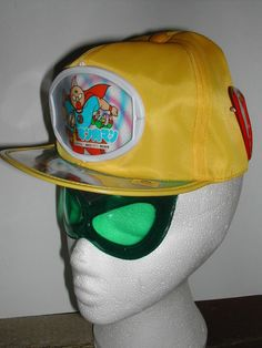KINNIKUMAN M.U.S.C.L.E. MAN RARE JAPANESE YELLOW BASEBALL CAP WITH VISOR SHADES