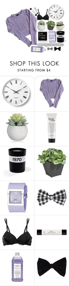 """""""MAKE YOU NEVER WANNA LEAVE"""" by aeslinn ❤ liked on Polyvore featuring Georg Jensen, Topshop, philosophy, Bella Freud, Ethan Allen, Invicta, Calvin Klein Underwear, Williams-Sonoma and PINK BOW"""