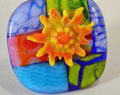 Custom Glass Flower Cabinet Knob