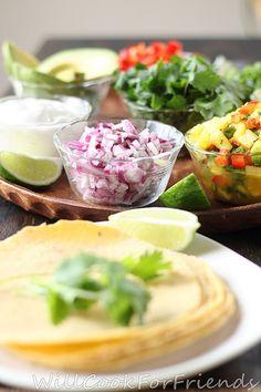 Fish Tacos with Pineapple Mango Salsa #WillCookForFriends #CincodeMayo