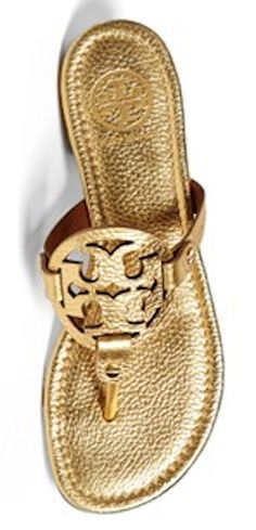 Tory Burch gold Miller sandals http://rstyle.me/n/jrnfhnyg6