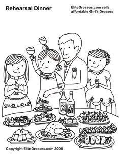EliteDresses.com Sells affordable Girls Dresses!!! Rehearsal Dinner-Coloring page
