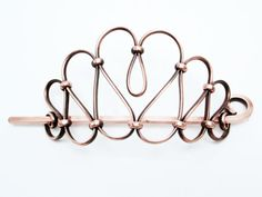 Copper Hair Piece with Stick for Buns and Updos, by The Tima Collection