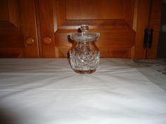 """Vintage 1970's Waterford Crystal Honey Jar. Ireland. 5"""" in Height.  Heavy. Large #Waterford"""