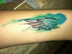 If I have a tattoo one day it will be watercolor one!