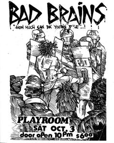 Bad Brains punk hardcore flyer