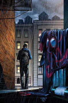 Miles Morales SPIDER-MAN by David Marquez after John Romita