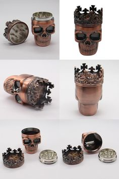 [Visit to Buy] 1 Pcs Cool King Skull Tobacco Herb Spice Grinder Crushe Household Smoking Accessories 7.5X4.5CM #Advertisement
