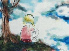 "Saatchi Art Artist Stephanie J Ryan; New Media, ""Girl Watching Clouds - Limited Edition 1 of 2"" #art"