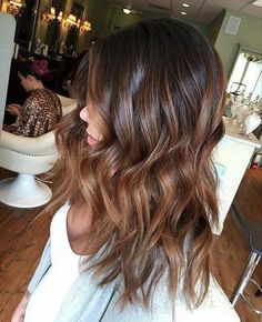 Are you familiar with Balayage hair? Balayage is a French word which means to sweep or paint. It is a sun kissed natural looking hair color that gives your hair . Black Hair Ombre, Black Hair With Highlights, Ombre Highlights, Blonde Ombre, Ash Blonde, Bayalage Black Hair, Baylage, Hair Color For Black Hair, Brown Ombre Short Hair