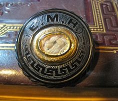Whitby Jet Mourning Brooch for E.M.H., Circa 1860 by lisby1, via Flickr