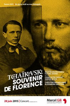 Cultural Poster about a Tchaïkovski concert in the south of France