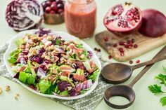 Radicchio Salad with Cranberry Orange Dressing - Plant-Based Vegan Recipe