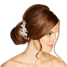 Alan Hannah Devoted Designer blossom freshwater pearl and crystal comb- at Debenhams.com
