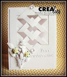"""Crealies: Carte """"Bon anniversaire"""" avec le Create A Card n°2..."""