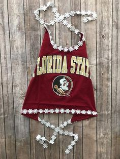 Florida State Seminoles Daisy Halter Top / Tailgate Clothing / Game Day Top / College Clothing / FSU / Florida Gift / Graduation Gift / Source by clothing College Shirts, College Outfits, College Clothing, College Games, College Game Days, College Workout, College Club, Florida State Seminoles, Halter Tops