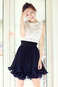$39.42 white & blue dress from zzkko.com