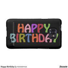 Happy Birthday Samsung Galaxy SII Case #HappyBirthday #Birthday #Party #Celebration #Art #Fashion #Mobile #Phone #Case #Cover #Samsung