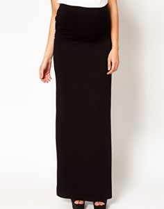 ASOS Maternity Exclusive Maxi Skirt With Foldover
