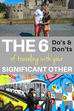 traveling with your significant other do's and don'ts pinterest pin