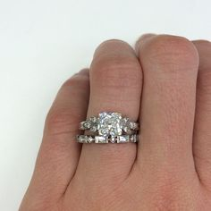 1.64ct Cushion cut diamond that is GIA certified and set in platinum hand crafted Single Stone mounting.