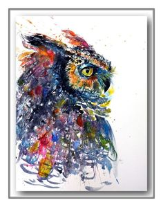 Buy Great horned owl, Watercolour by Kovács Anna Brigitta on Artfinder. Discover thousands of other original paintings, prints, sculptures and photography from independent artists.