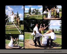 Wedding pictures at a playground!!!!!!! YES!!!!!!!!!! include swing too!!!!!