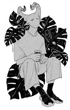 Cute Art Styles, Cartoon Art Styles, Dibujos Dark, Art Sketches, Art Drawings, Dessin Old School, Sad Art, Creepy Art, Illustration Art