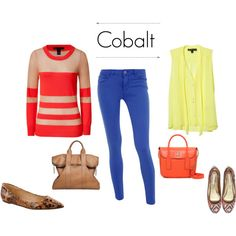 cobalt jeans styling